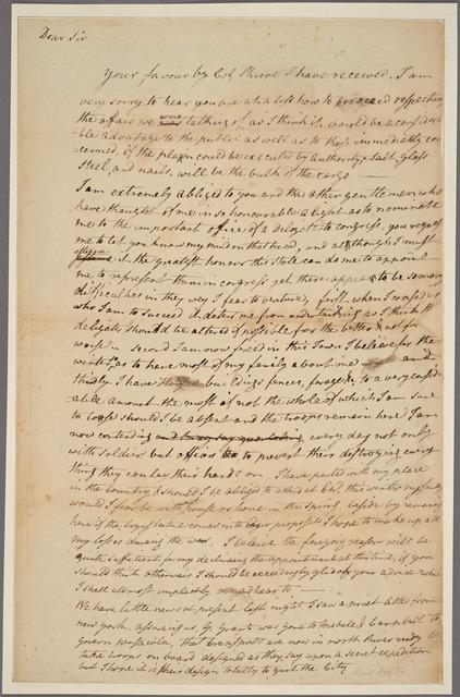 Letter to [Abraham Clark.]