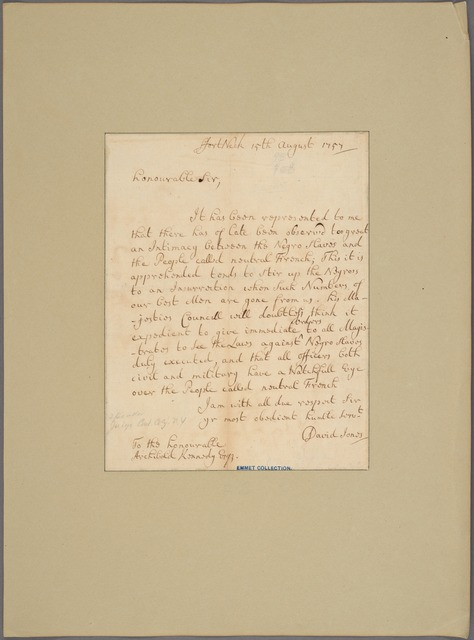 Letter to Archibald Kennedy