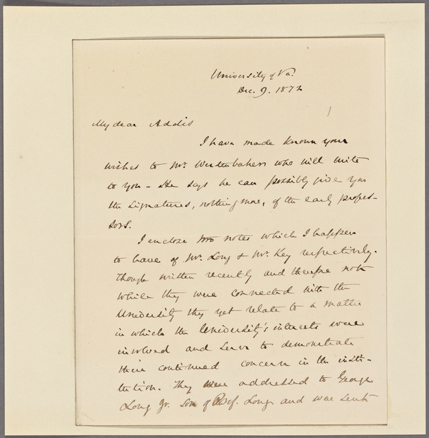 Letter to Dr. T[homas] A[ddis] Emmet, New York