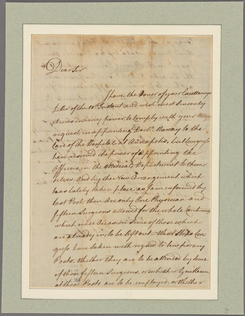 Letter to [Gen. Charles Lee, Annapolis.]