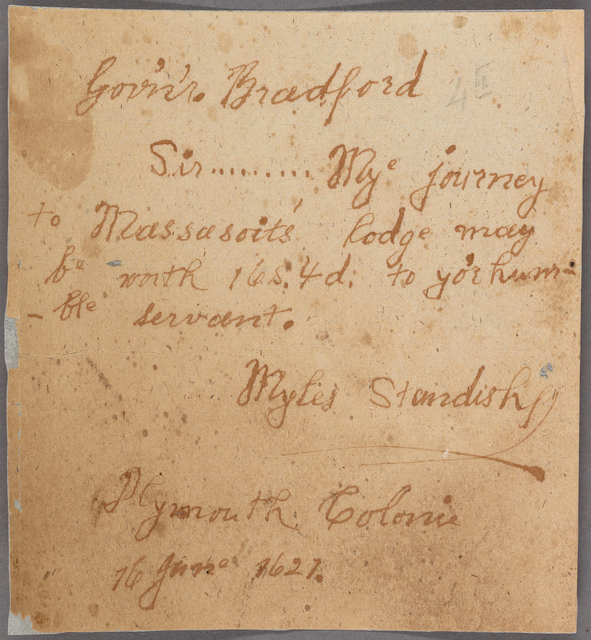 Letter to Gov. [William] Bradford