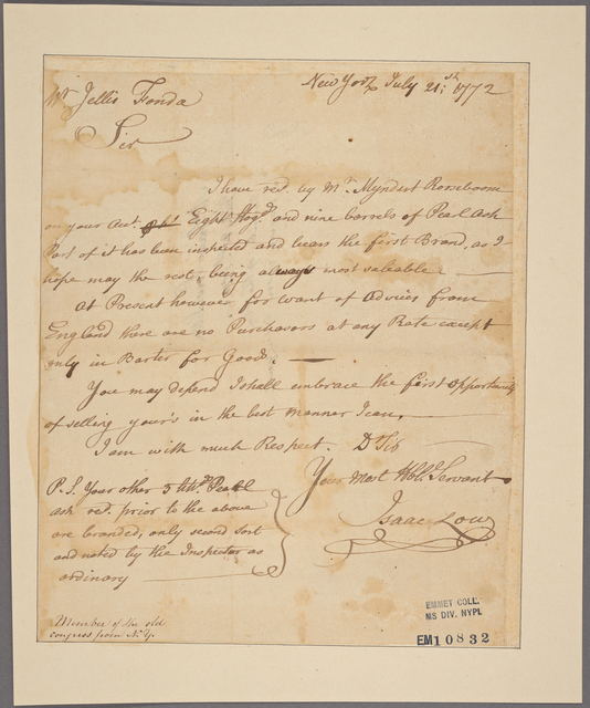 Letter to Jellis Fonda [Schenectady? N. Y.]