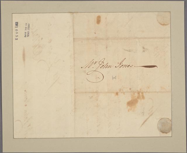 Letter to John Jones [New York]