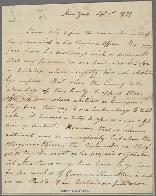 Letter to J[oshua] Loring [Jr.], Comissary Gen. of Prisoners