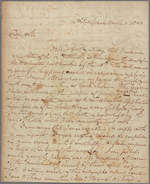 Letter to Lewis Jacob Cist [Cincinnati?]