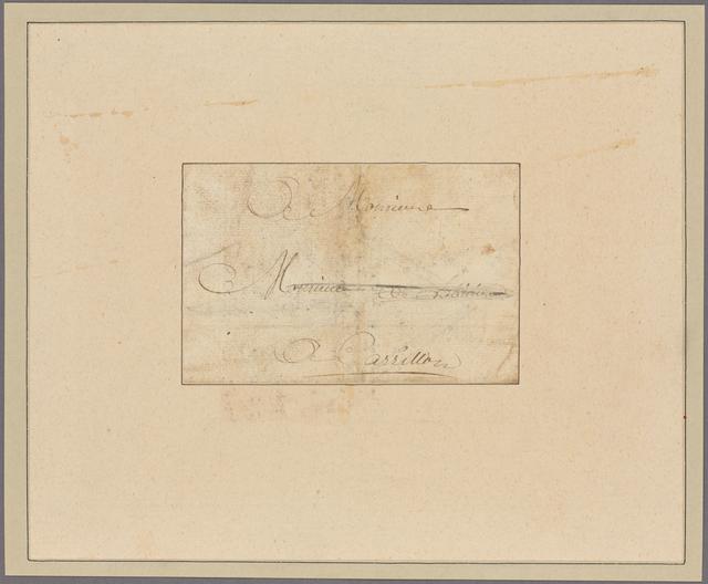 Letter to M. de Lobinière, Carillon