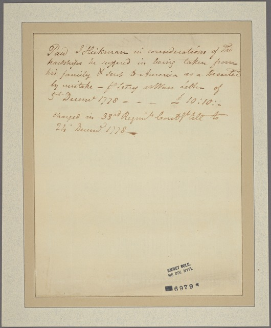 Letter to M[atthew?] Lewis, War Office [London]