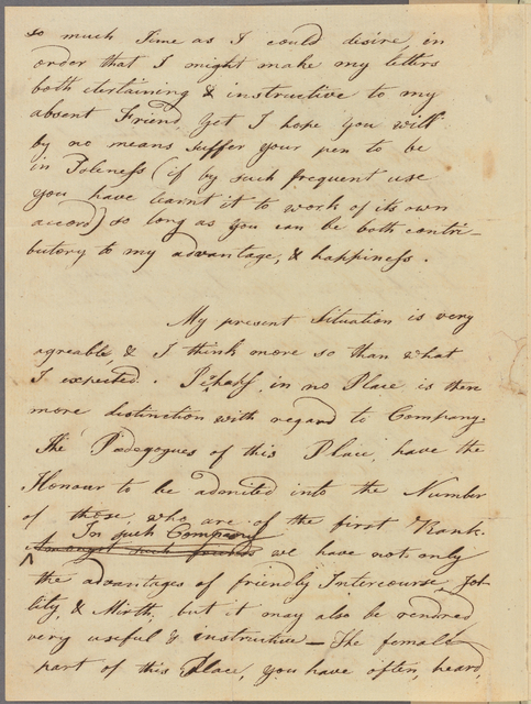Letter to Nathan Hale, Yale College [New Haven]