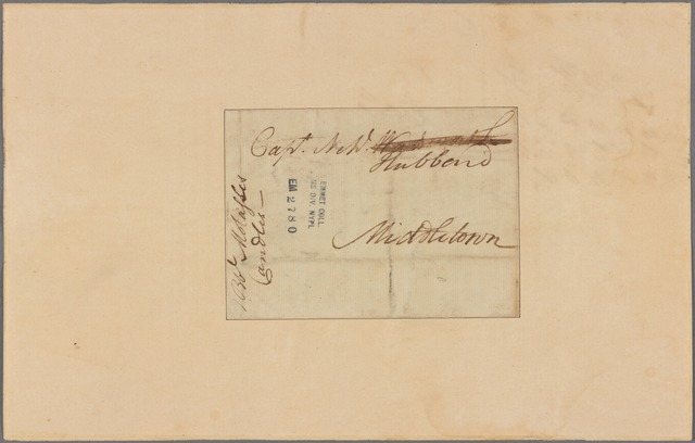Letter to Nehl. Hubbard, Middletown
