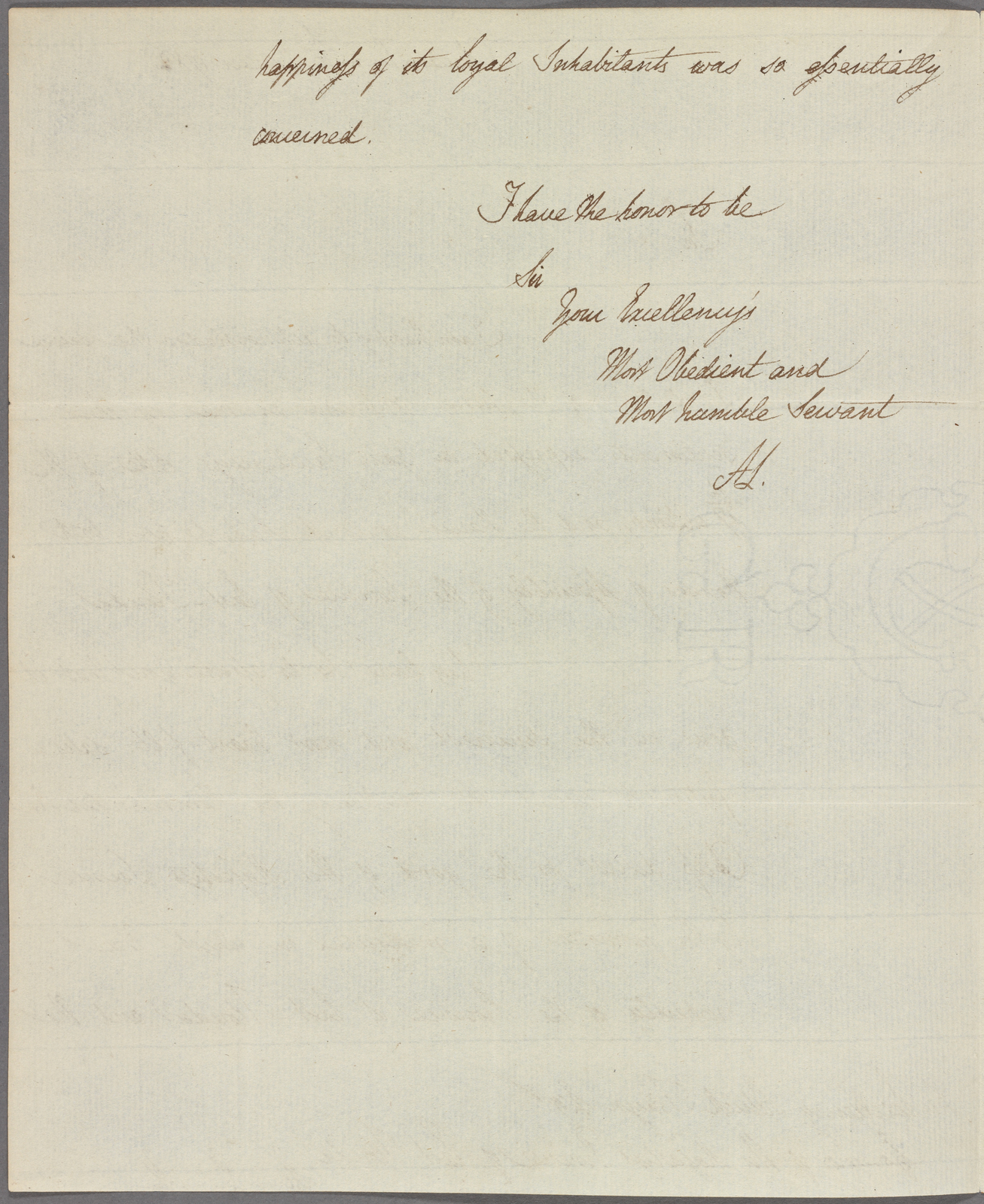 Letter to Patrick Tonyn, Governor of East Florida