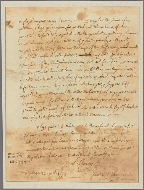Letter to President Lawrence [Henry Laurens, York, Penn.]