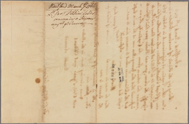 Letter to Sir William Johnson [Tryon County, N. Y.]