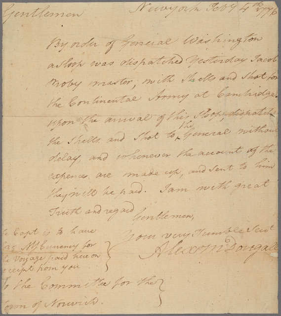 Letter to the Committee for the town of Norwich