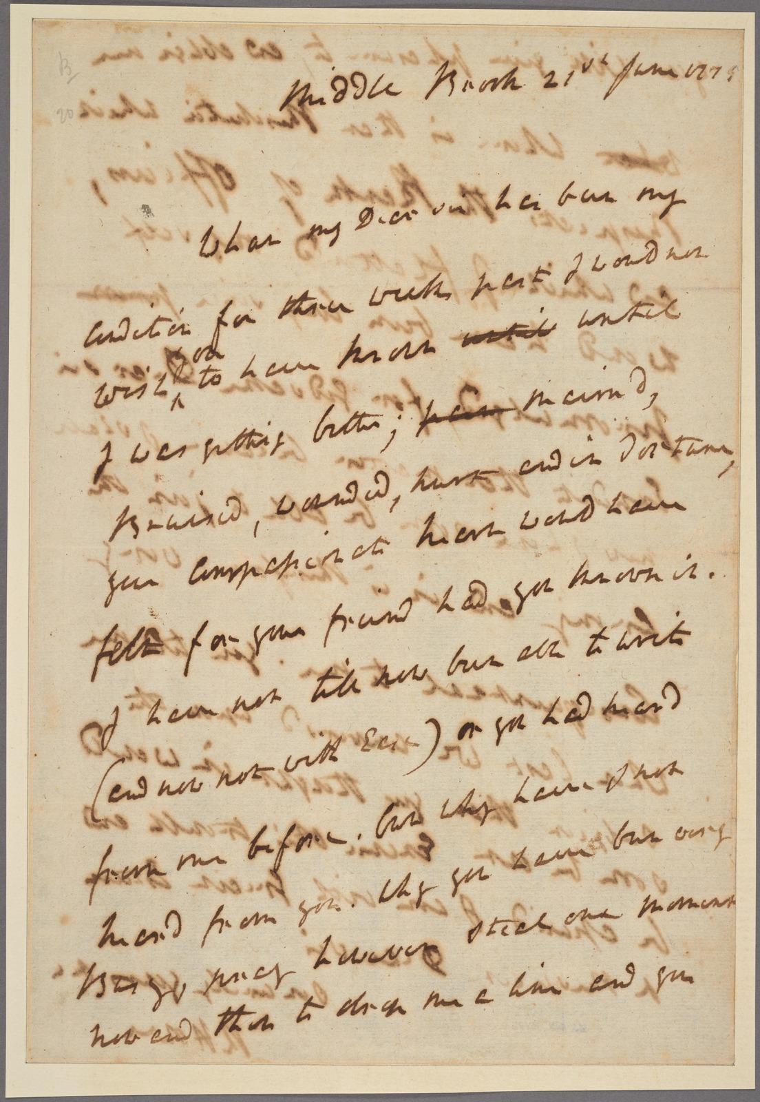 Letter to Thomas Burke, Philadelphia