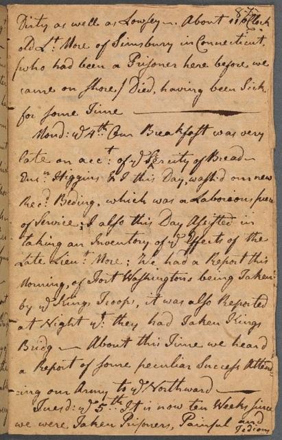 November 3-5, 1776