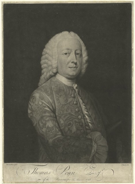 Thomas Penn Esqr. one of the proprietors of Pensilvania [sic], 1751.
