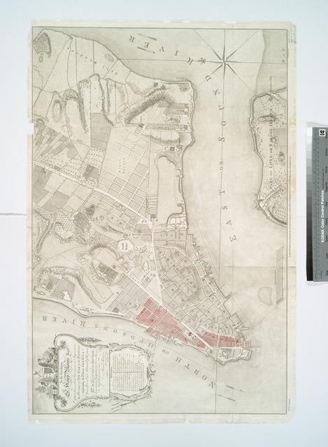 To His Excellency Sr. Henry Moore, Bart., captain general and governour in chief, in & over the Province of New York & the territories depending thereon in America, chancellor & vice admiral of the same, this plan of the city of New York, is most humbly inscribed