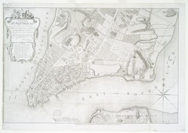 To his excellency Sr. Henry Moore ... this plan of the city of New York...