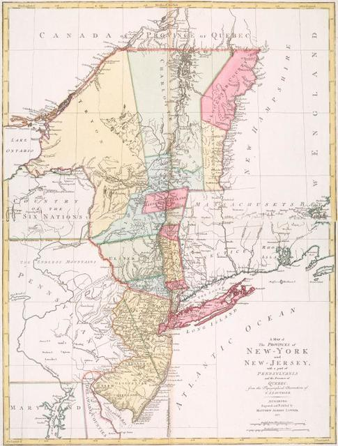 A map of the provinces of New-York and New Jersey : with a part of Pennsylvania and the Province of Quebec