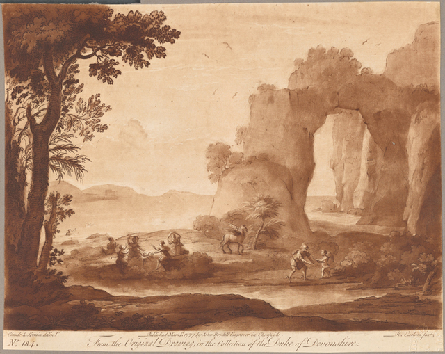 No. 184. Perseus Conversing with Cupid, or View of a pierced Rock open to the Sea, with an allegorical History introduced