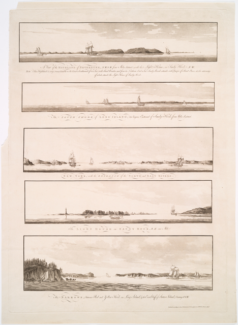 Views of the entrance to New York Harbour.