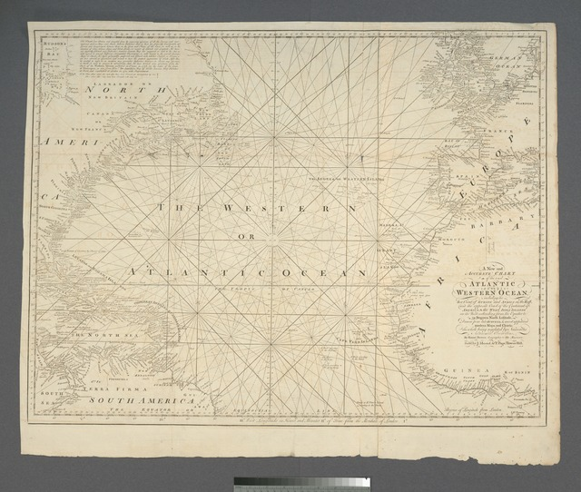 A new and accurate chart of the vast Atlantic or Western Ocean.