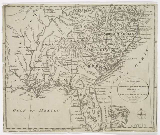West Florida Map.An Exact Map Of North And South Carolina Georgia With East And