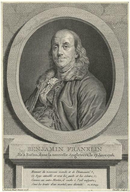 Benjamin Franklin ne a Boston dans la nouvelle Angleterre, le 17 Janvj. 1706