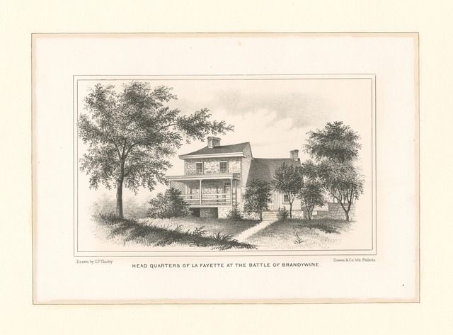 Head quarters of La Fayette at the Battle of Brandywine