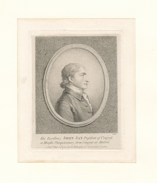 His excellency John Jay President of Congress...