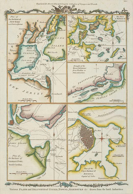 Various plans and draughts of cities, towns, harbours &c.
