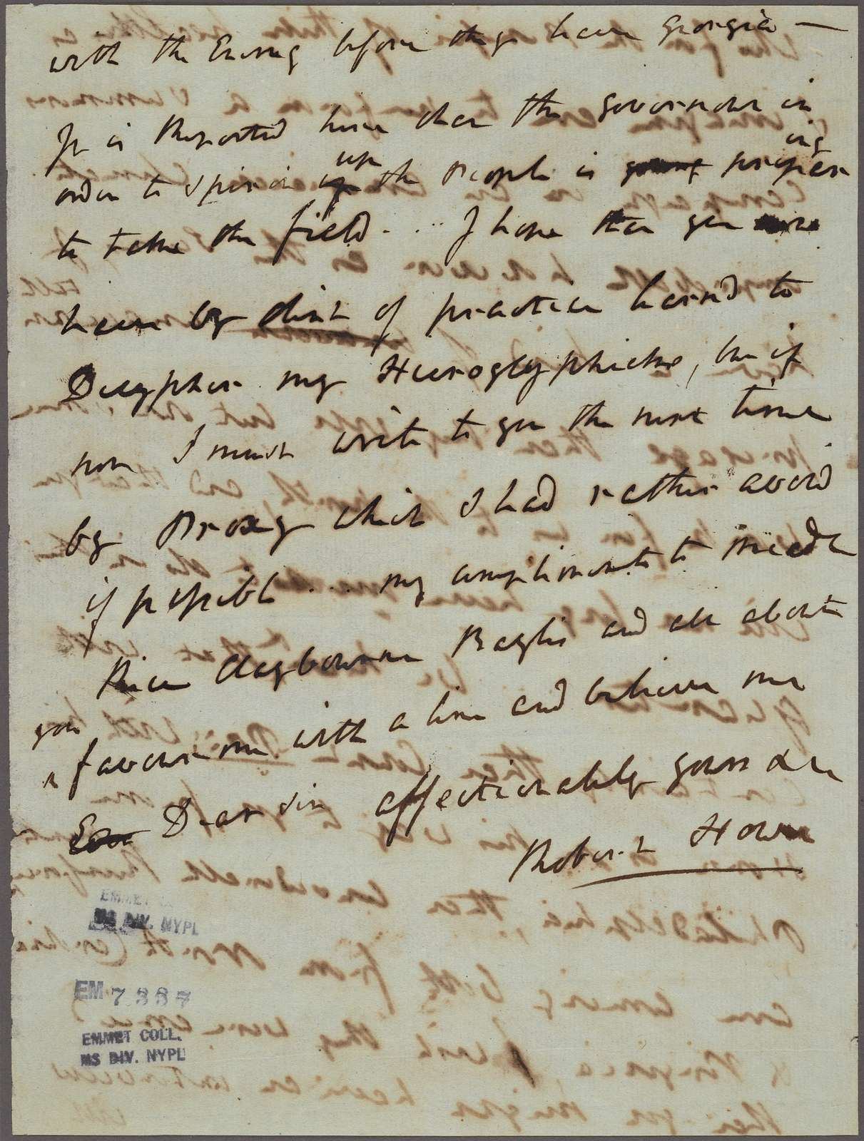 Letter to [Thomas Sumter?]