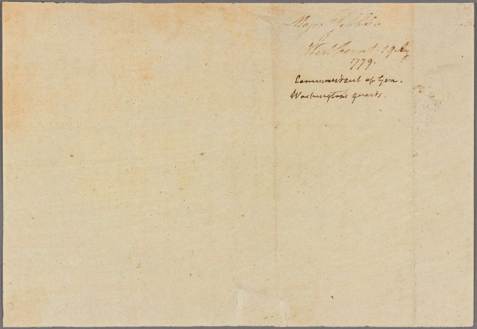 Letter to Mrs. [Francis] Barber