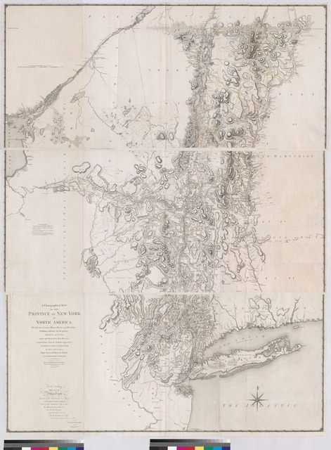 A chorographical map of the province of New-York in North America, divided into counties, manors, patents and townships : exhibiting likewise all the private grants of land made and located in that Province