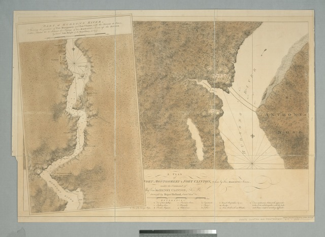 A plan of Fort Montgomery & Fort Clinton, taken by His Majesty's forces, under the command of Maj. Genl. Sir Henry Clinton, K.B.