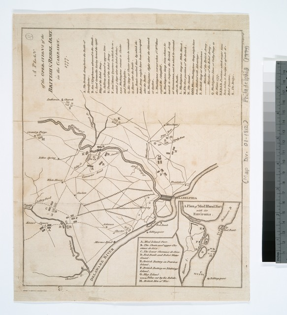 A plan of the operations of the British & Rebel army in the Campaign, 1777