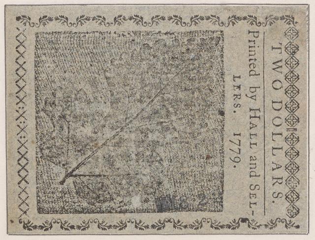 Virginia paper money. 8 dollars