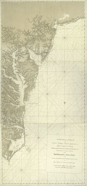 A chart of the coast of New York, New Jersey, Pensilvania, Maryland, Virginia, North Carolina, & c.