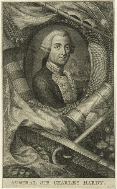 Admiral Sir Charles Hardy.