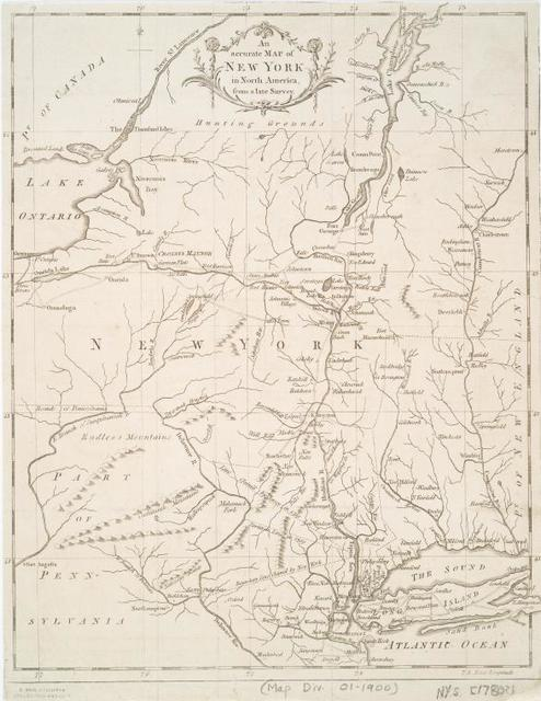 An Accurate map of New York in North America, from a late survey.