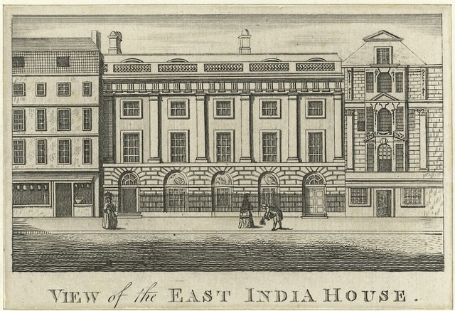 View of the East India House.