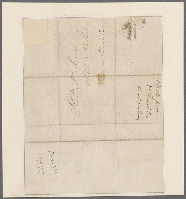Franklin, Benjamin. To Mr. [James] Searle, Hotel de Valois