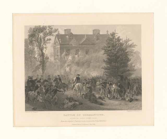 Battle of Germantown. Attack on Judge Chew's house
