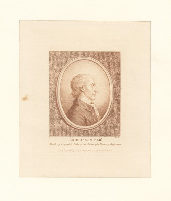 J. Dickinson Esq. Member of congress and author of the Letters of a Farmer of Pennsylvania
