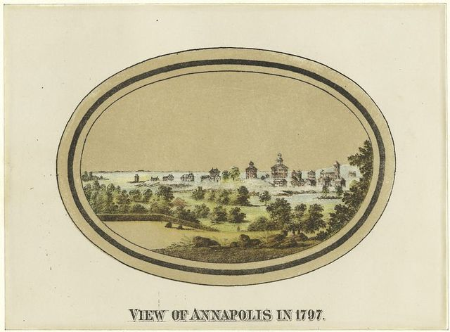 View of Annapolis in 1797.