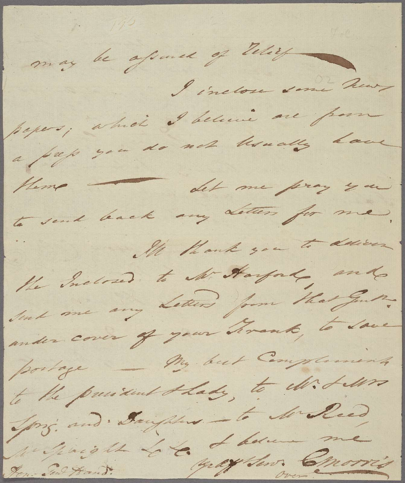 Letter to Edward Hand [Annapolis, Md.]