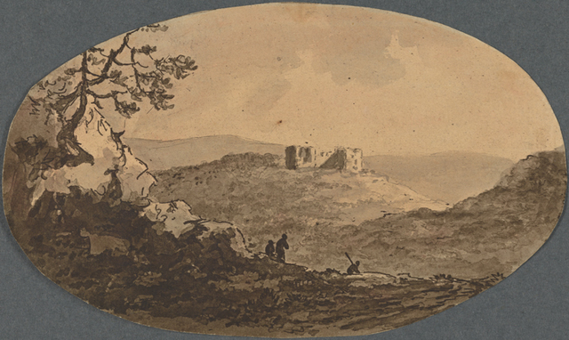 Dinevawr Castle, from Observations on the River Wye