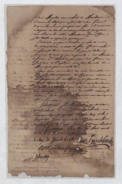 Manumission certificate for Jeanne Aline