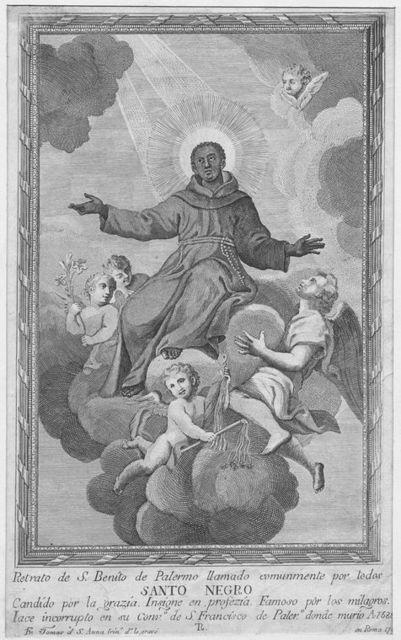 [Santo Negro, portrait of San Beníto de Palermo, also known as St. Benedict the Moor.]
