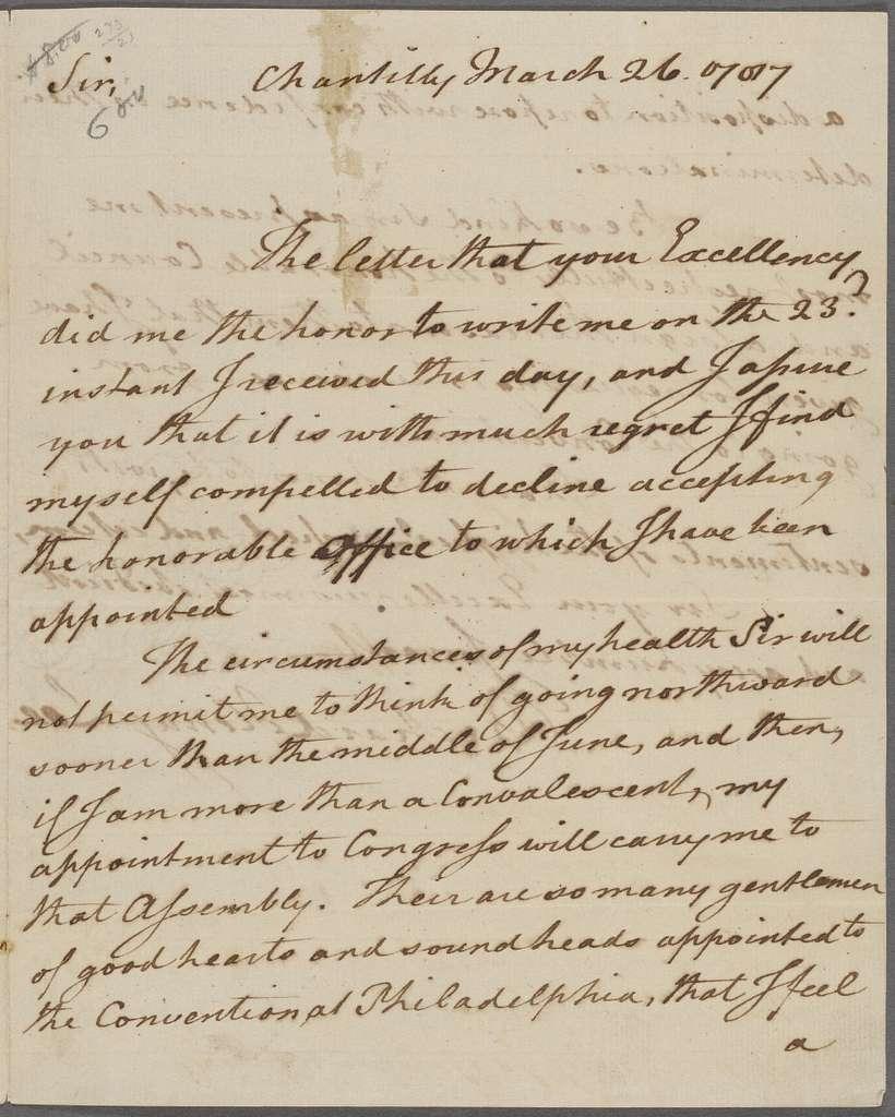 Governor of Virginia [Edmund Randolph]